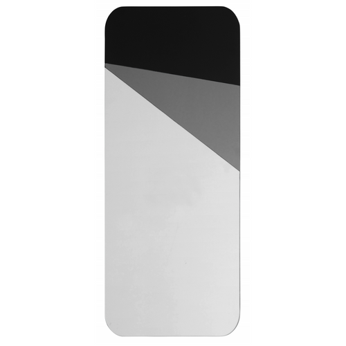 Mirror, Geometric Grey/Black Colour Deco