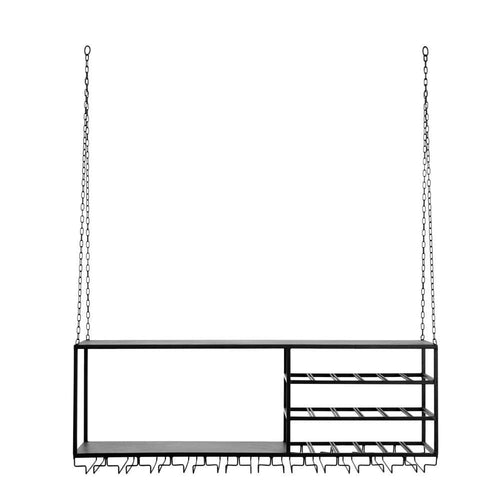 Loft rack/shelf, black