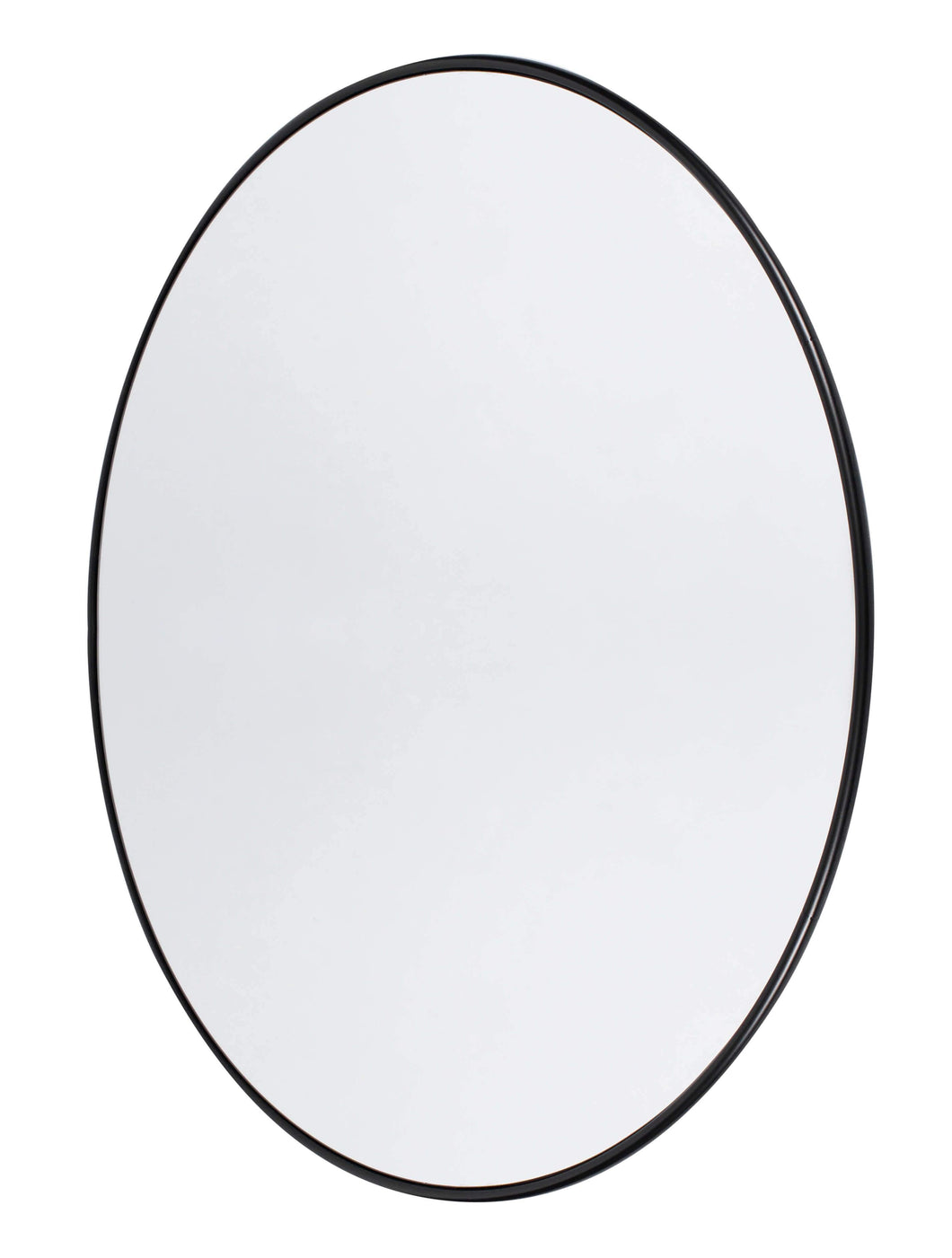 Wall mirror round Copenhagen, Black