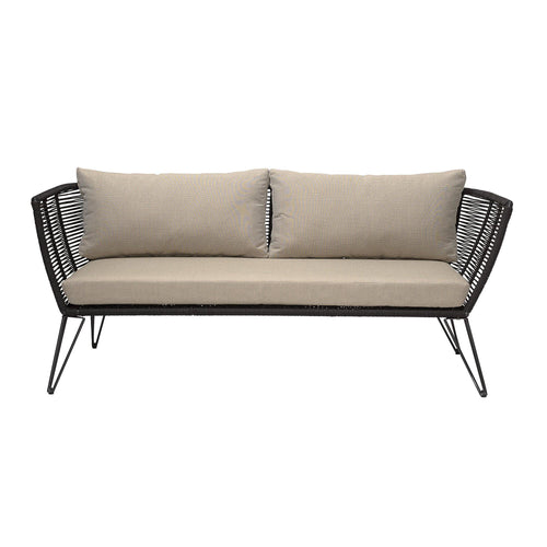 Sofa, sort metal