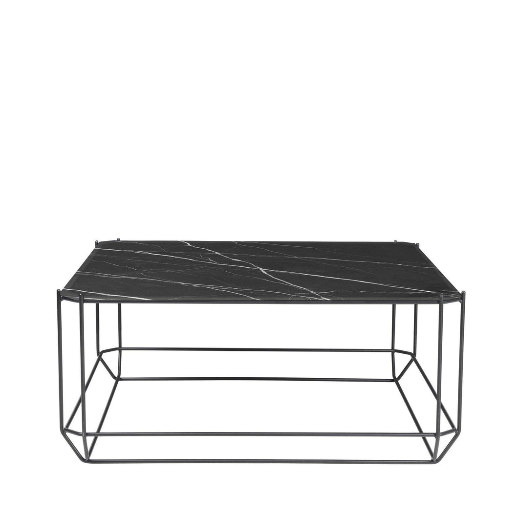 The jewel Coffee Table, Marble - Black