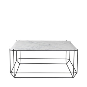 The jewel Coffee Table, Marble - White