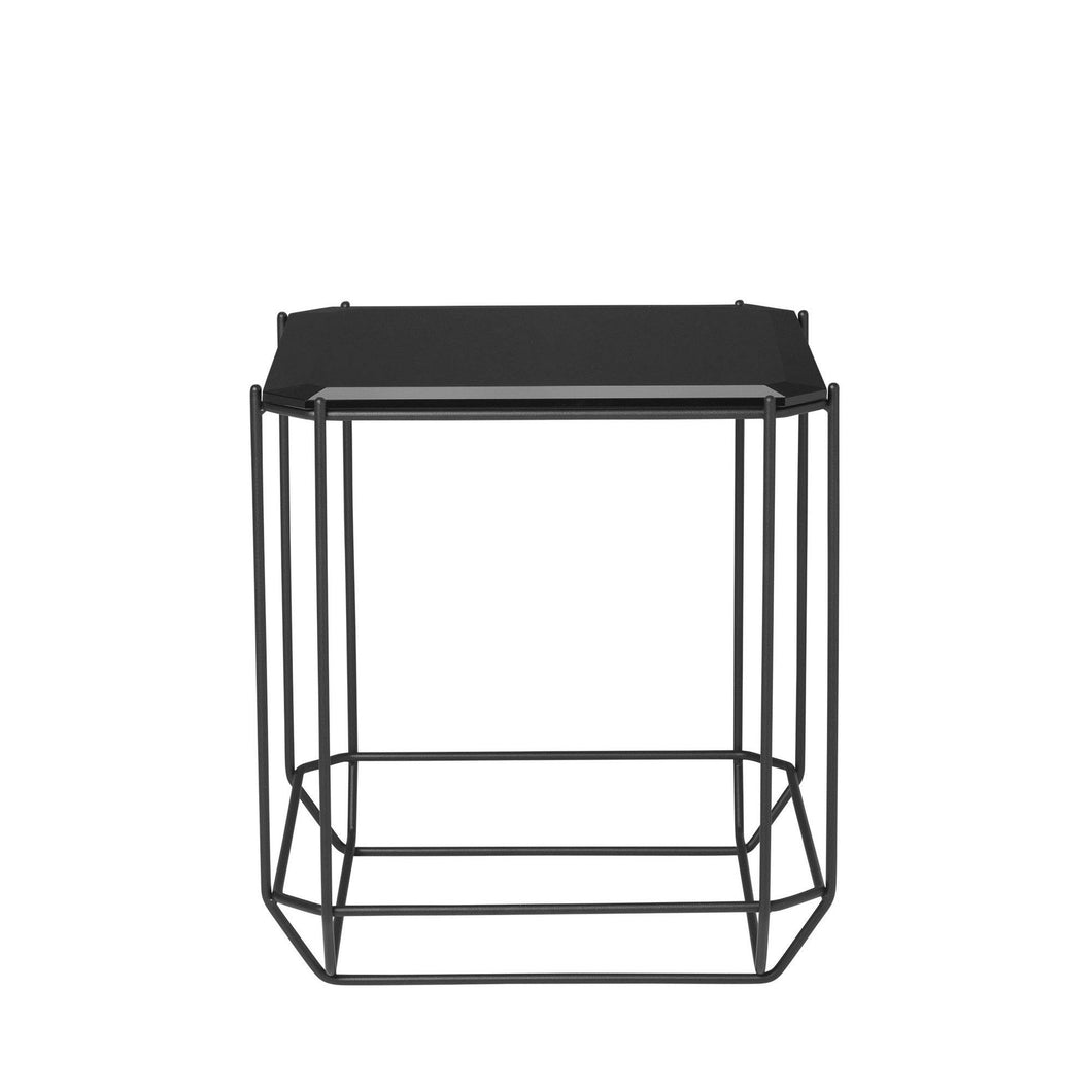 The jewel Side Table Black Glass