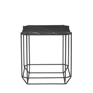 The jewel Side Table Marble, black