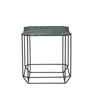 The jewel Side Table Marble, Green
