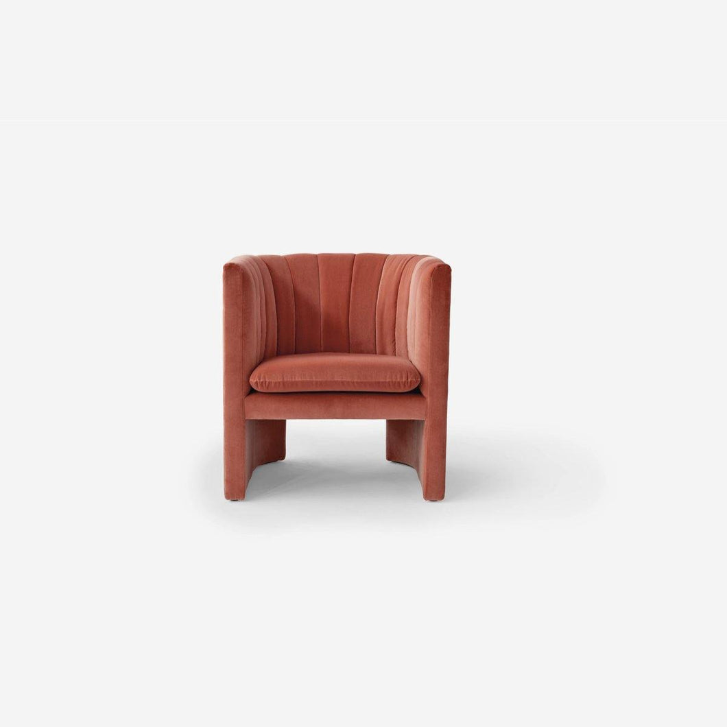 Loafer Lounge Chair, Velvet