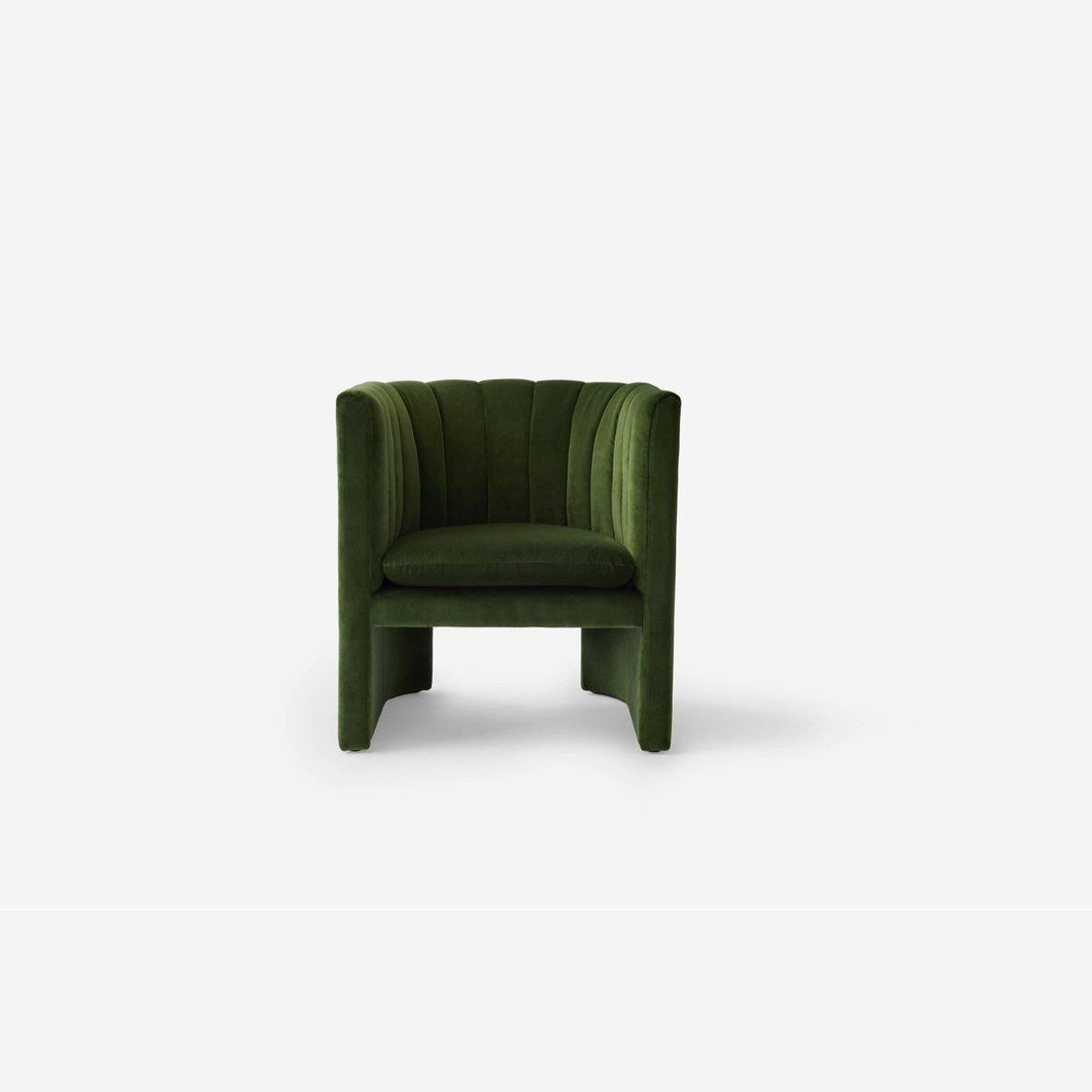 Loafer Lounge Chair, velvet Pine