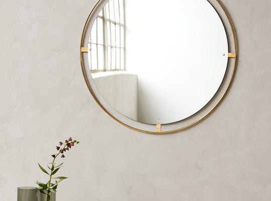 Nimbus Mirror Ø110, Polished Brass