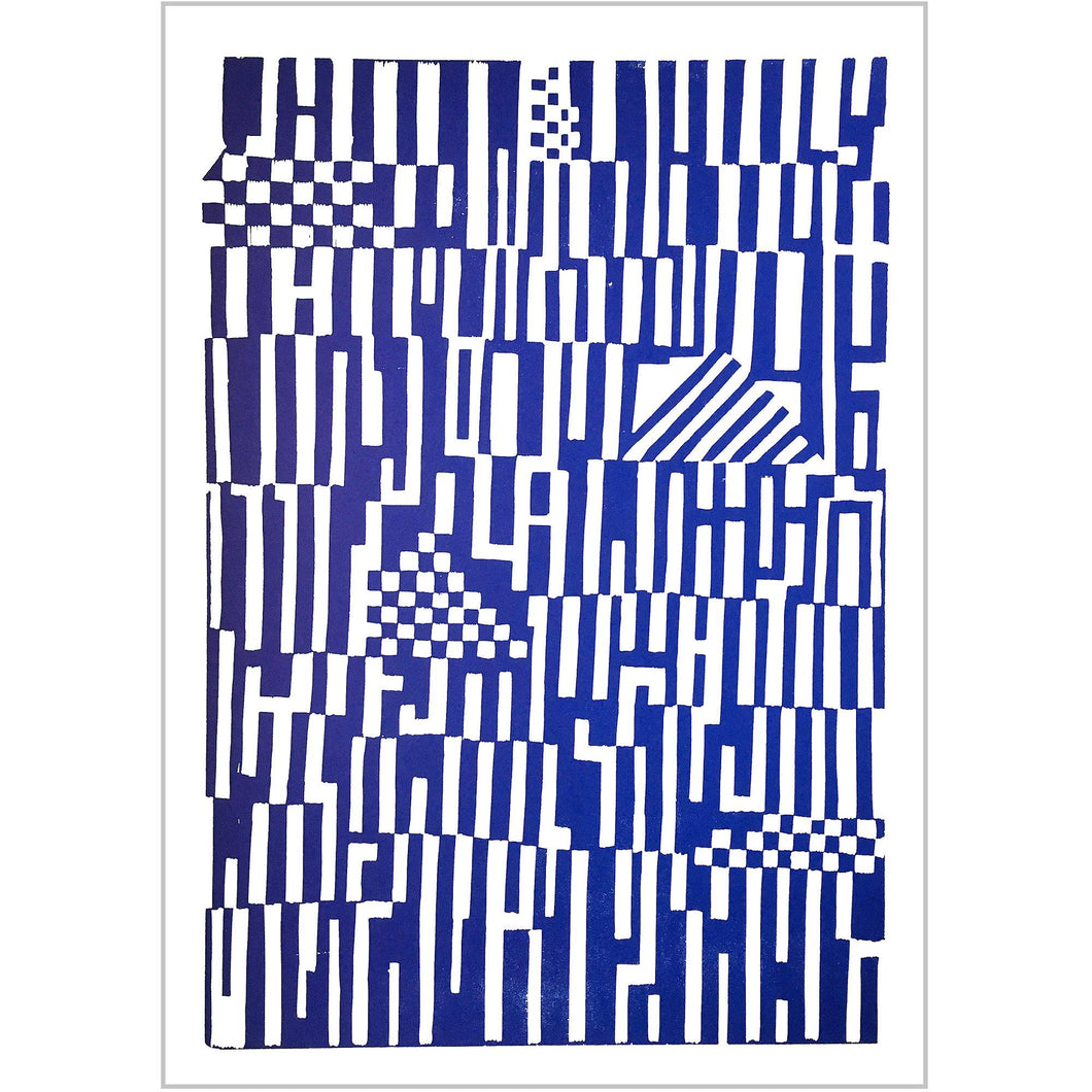 Pattern Poster blue