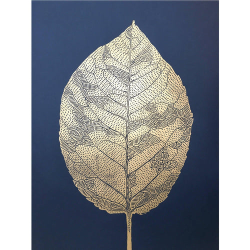 Black Leaf Gold / Indigo