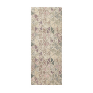 Magic woven rug, pastel triangles