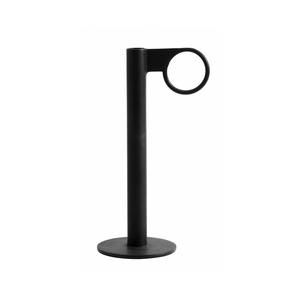 Industrial Candle Holder, Circle H Black