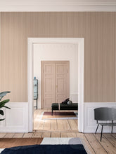 Tapet - Thin Lines Wallpaper - Mustard/Off White