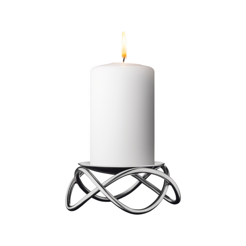 Glow Candleholder, Stainless Steel Matte