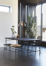 Dining table, metal/wood