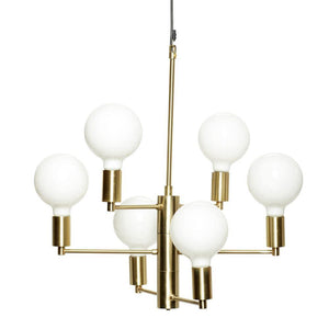 Loftlampe messing/glas
