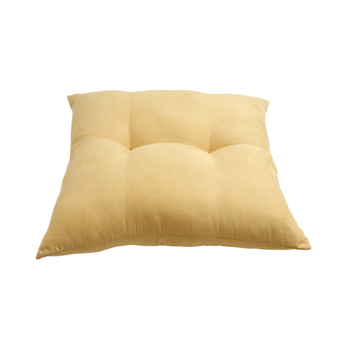 Zen floor cushion, creamy yellow