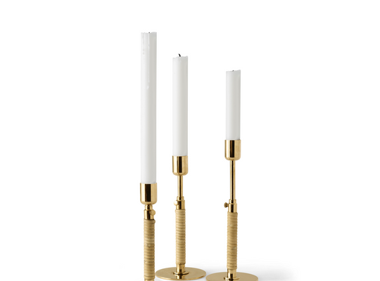 Duca Candleholder, Polished Brass