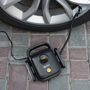 Car Air Pump Mini Portable Electric Auto Stop Tire Inflator Pressure Air Pump Compressor