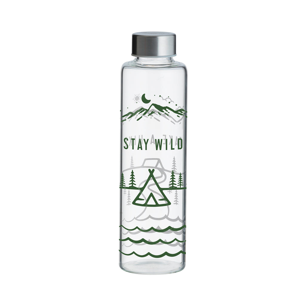 TYPHOON PURE | STAY WILD Trinkflasche aus Glas, 600 ml