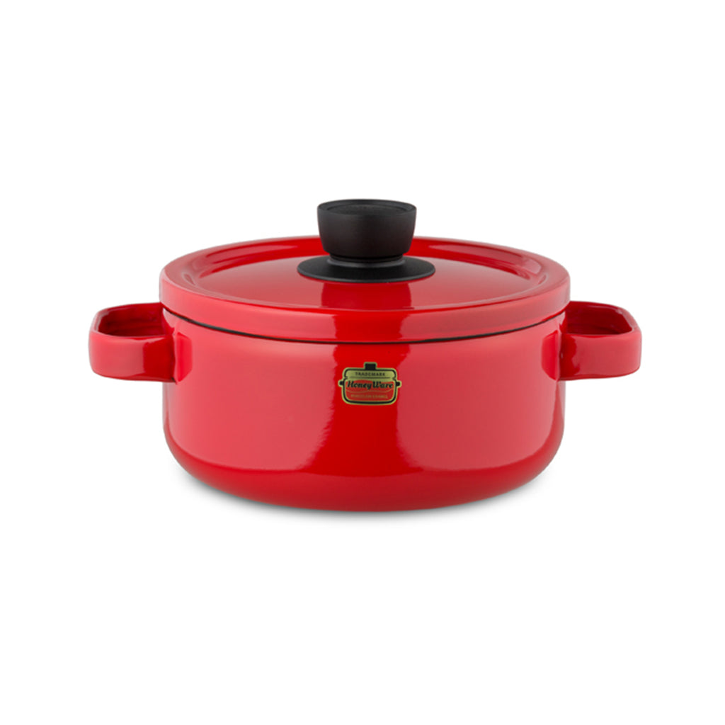 HoneyWare | Emaille-Topf, 20 cm, rot