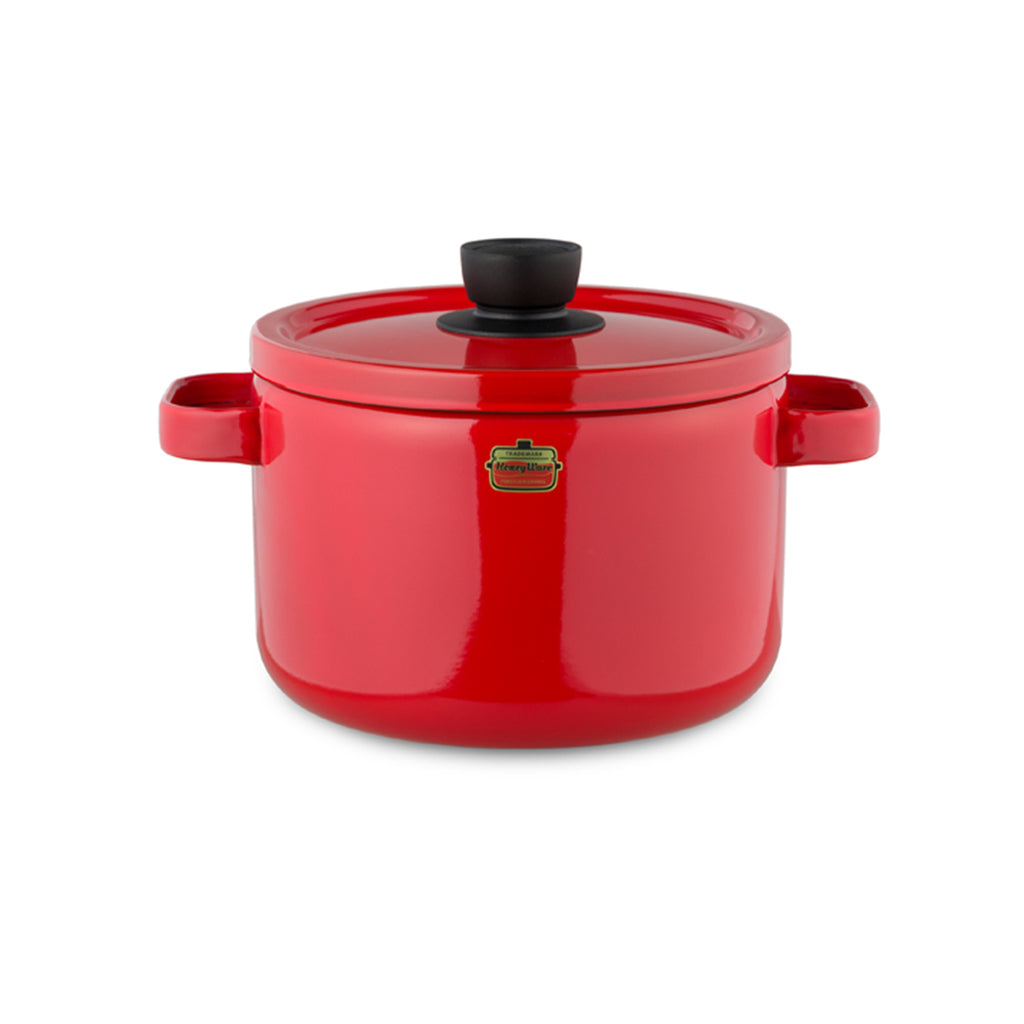 HoneyWare | Emaille-Topf, 22 cm, rot