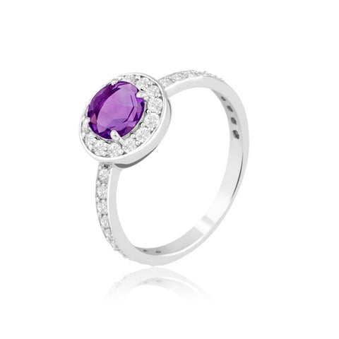 "Buy Rings Online | Amethyst Celebration Ring | ""9 to 9"" Office Wear 