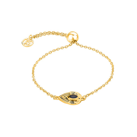Shop For Guardian Angel Symbol Bracelet(Yellow Gold) Online At Talisman World
