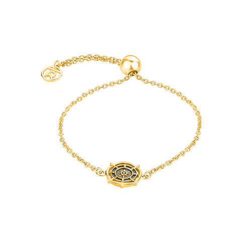 """Wheel of Dharma"" Symbol Bracelet"
