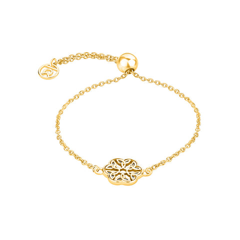 "Buy Online ""Endless Knot"" Symbol Bracelet (Yellow Gold) For Women At Talisman World"
