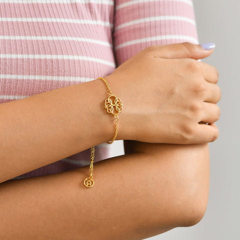 "Buy ""Path of Life"" Symbol Bracelet (18K Yellow Gold) At Talisman World"