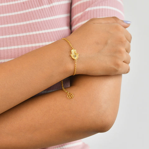 "Best Symbol Bracelet | Hand of Hamsa Symbol Bracelet | ""9 to 9"" Office Wear 