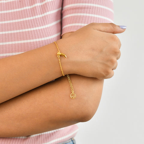 Buy Tiger's Claw Symbol Bracelet (Yellow Gold) Online For Women In India