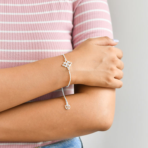 Buy Endless Knot Symbol Bracelet (Silver) For Women Online In India