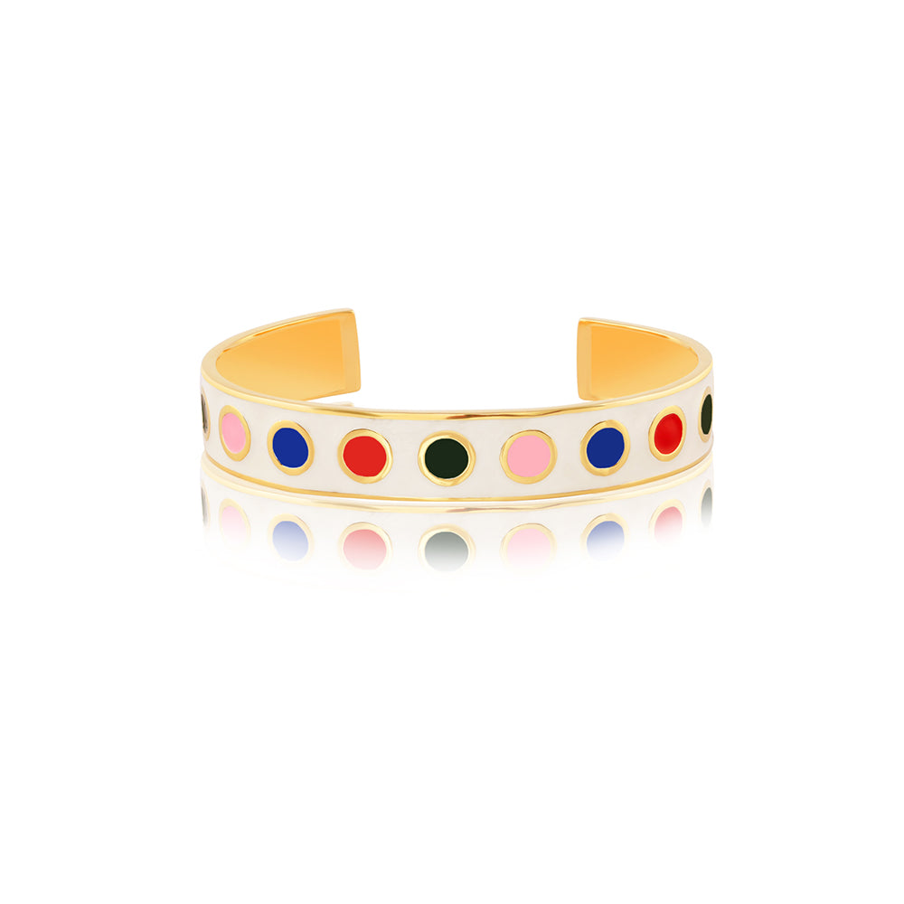 Shop for Polka Dot Enamel Bangle on Talisman World Online At Best Price. Unique collection of Sterling Silver Bangles Online Only At Talisman World. Free Shipping & COD Available.