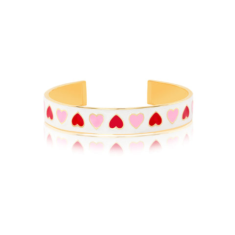 "Online Bangles Shopping | Matters of the Heart Enamel Bangle | ""9 to 9"" Office Wear 