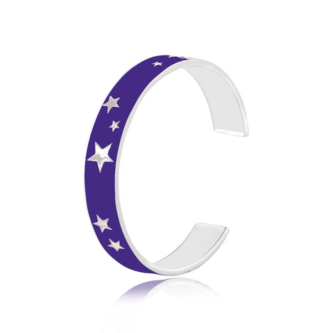 "Buy Bangles Online | Starry Night Enamel Bangle | ""9 to 9"" Office Wear 
