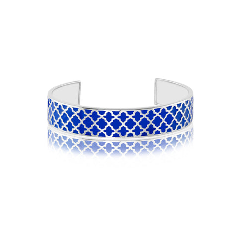 "Bangles Online | Deep Blue Sea Enamel Bangle | ""9 to 9"" Office Wear 