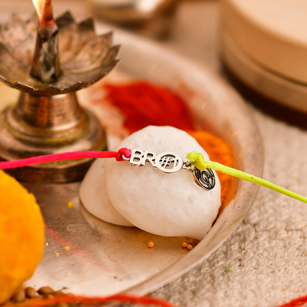 sterling silver rakhi,sterling silver rakhi online,gifts for sister