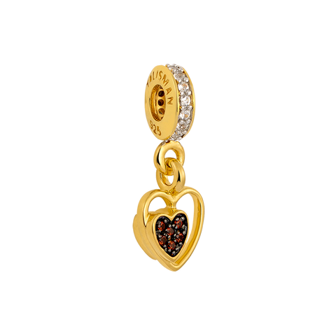 Amy Heart Charm Dangle,buy charms online in india,silver charms online,talisman world charms online