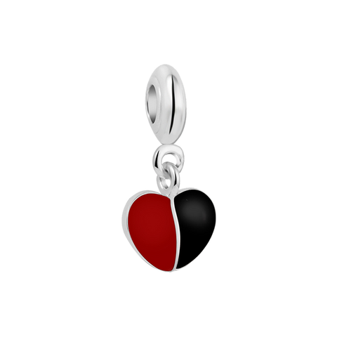 Polar Heart Charm Dangle,buy charms online in india,silver charms online,talisman world charms online
