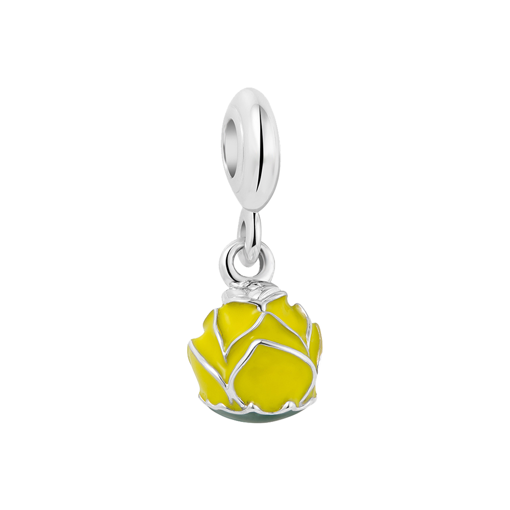 Yellow Rose Bloom Charm - Best Dangle Charms For Women Online