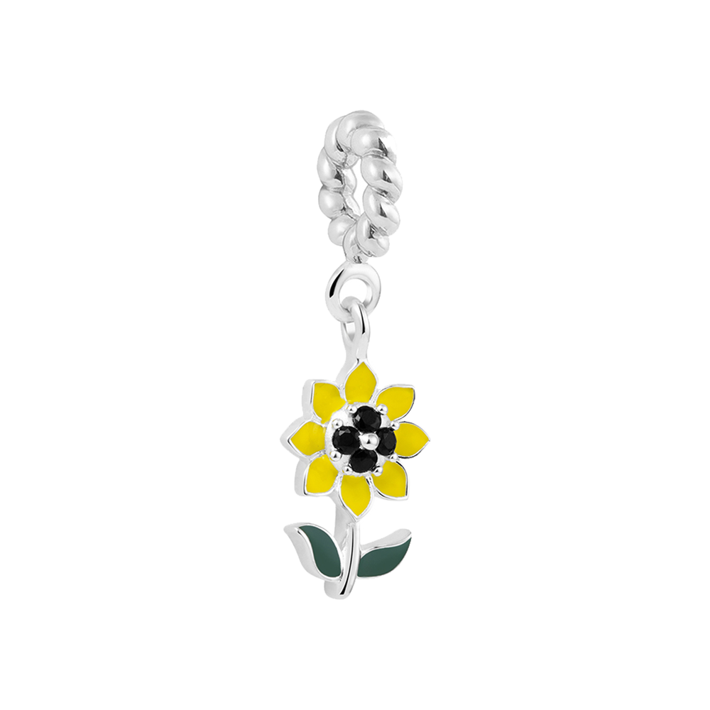 Sunflower Charm - Dangle Charms For Women Online In India