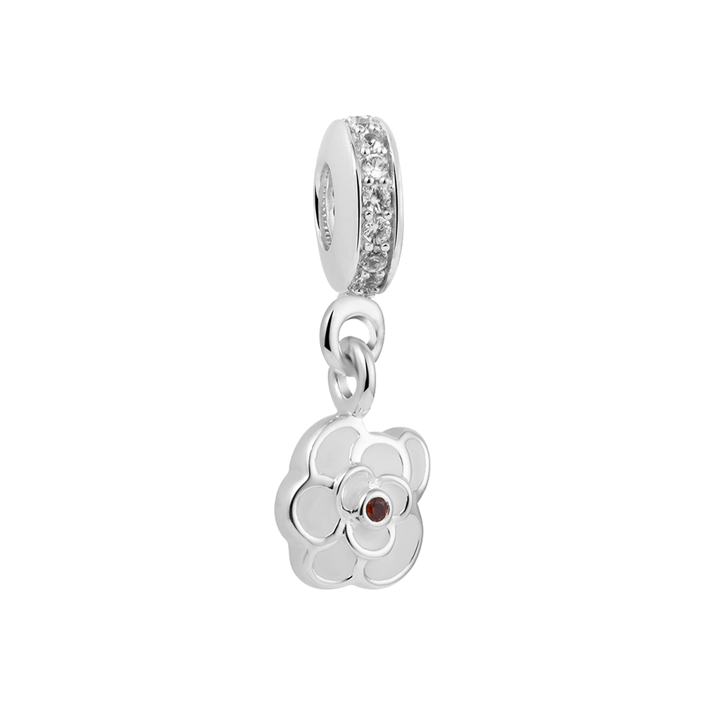 White Lily Charm - Dangle Charms Online In India