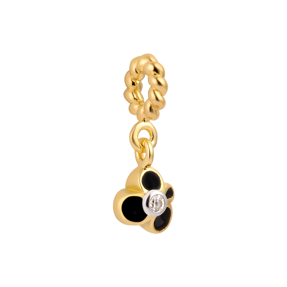 Buy Black Bud Charm Online - Silver Dangle Charms