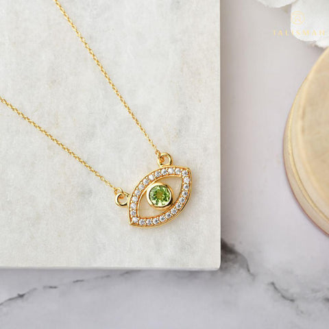 Evershining Evil Eye Peridot Necklace
