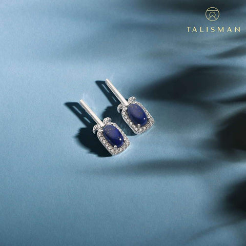 Buy Silver Stud Earrings | Plush Shine Drop Earrings  | Earrings | TALISMAN