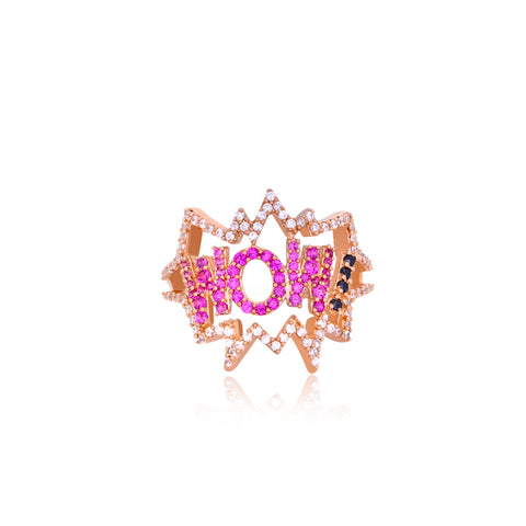 """WOW"" Pop Art Ring"