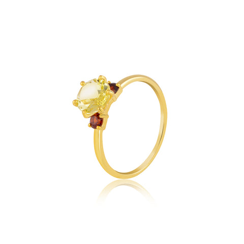 Lemon Quartz Celebration Ring
