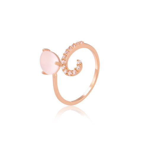 Rose Quartz Sparkle Ring